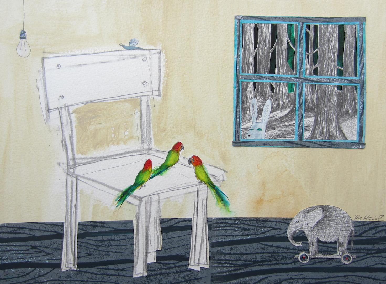 Birds on Chair